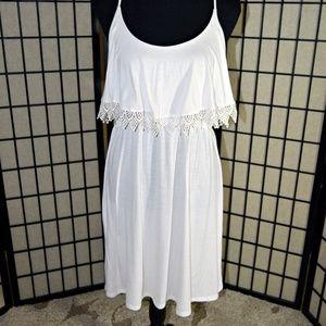 White Xhilaration Summer Dress XL